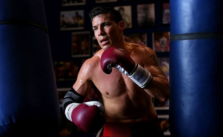 Sergio Martinez in boxing gear.