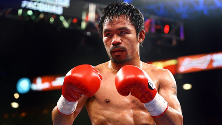 Manny Pacquiao in the boxing ring.