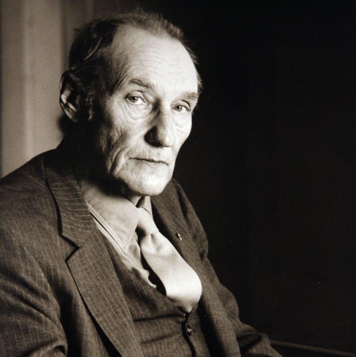 William Burroughs in three quarters profile