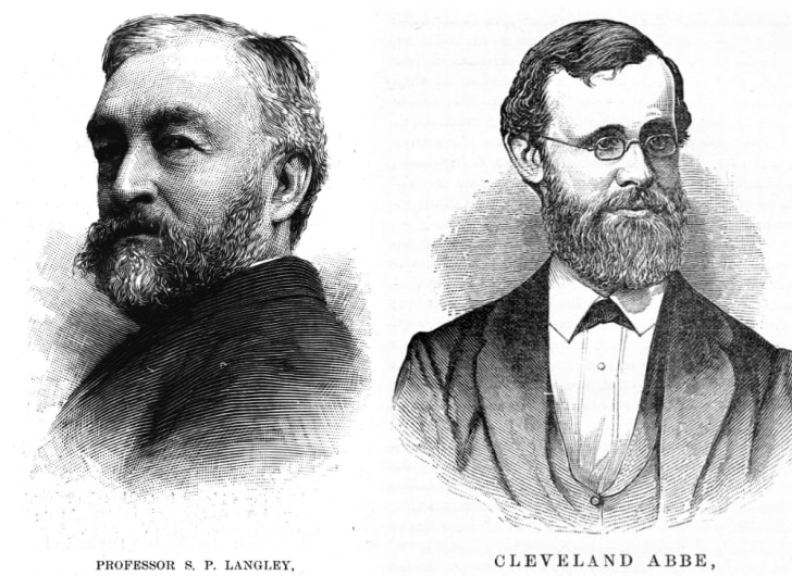 SP Langley and Cleveland Abbe