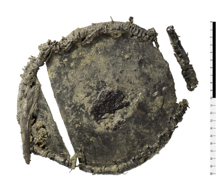 """A 3500-year-old """"lunchbox,"""" discovered in an ice patch in the Swiss Alps."""