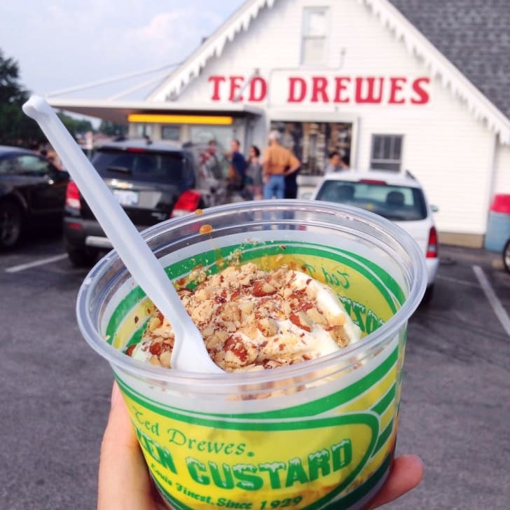 ted drewes ice cream and exterior