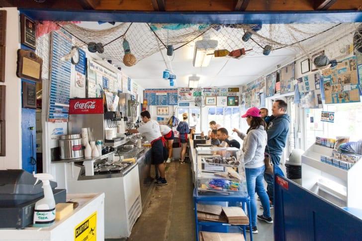 Four Seas Ice Cream interior