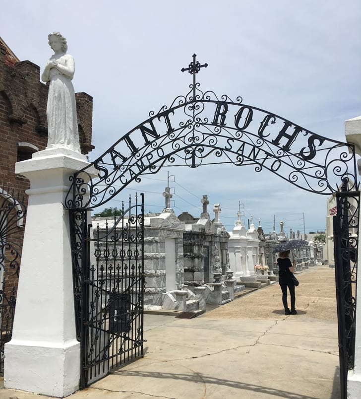 The entrance to St. Roch cemetery