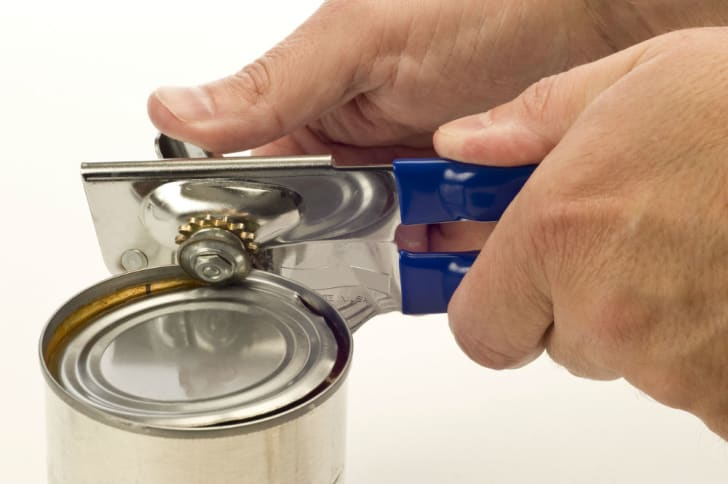 A can opener made for right-handed use