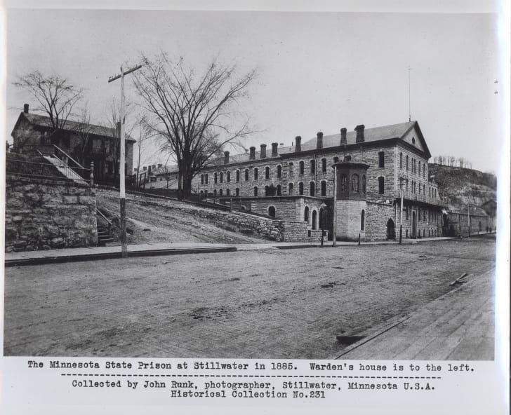 The Minnesota State Prison at Stillwater in 1885