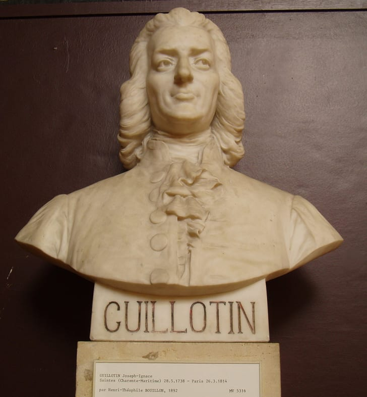 A bust of Dr. Joseph-Ignace Guillotin