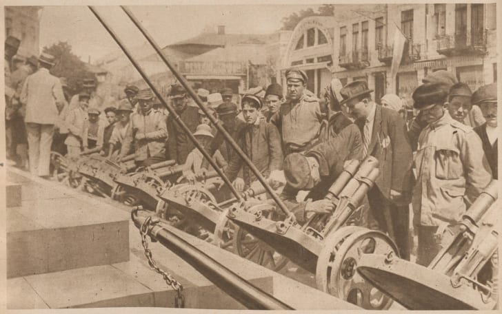 Armaments captured by the Romanian troops during the Battle from Mărăşti, 1917