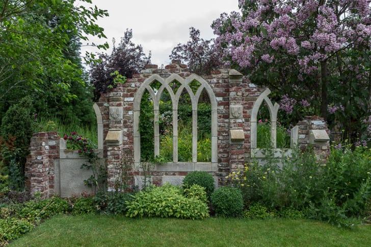 A photograph of a garden ruin folly, Capel Manor, Enfield