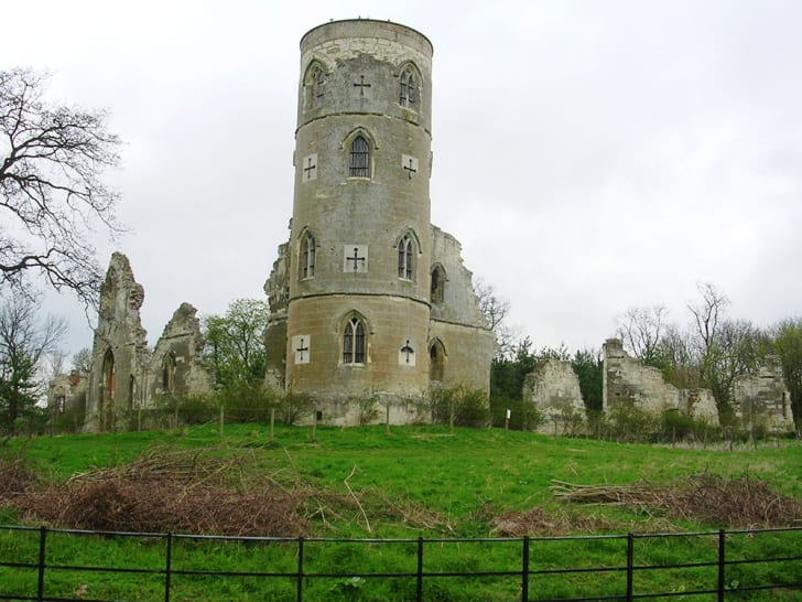 A photo of Wimpole Folly in Cambridgeshire, England