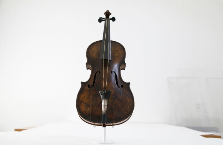 The Hartley violin, more than 100 years after being recovered at sea