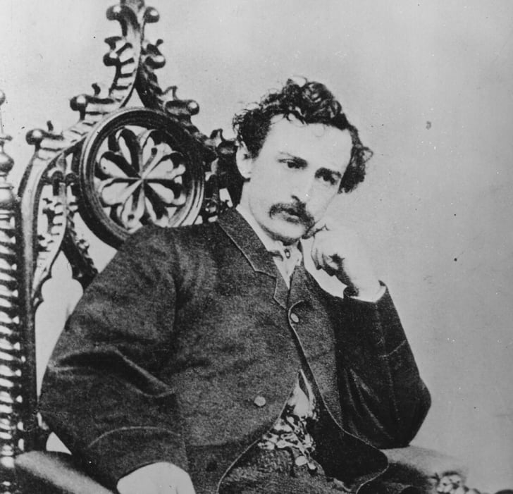 A black and white photograph of John Wilkes Booth