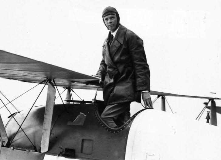A photo of aviator Charles Lindbergh