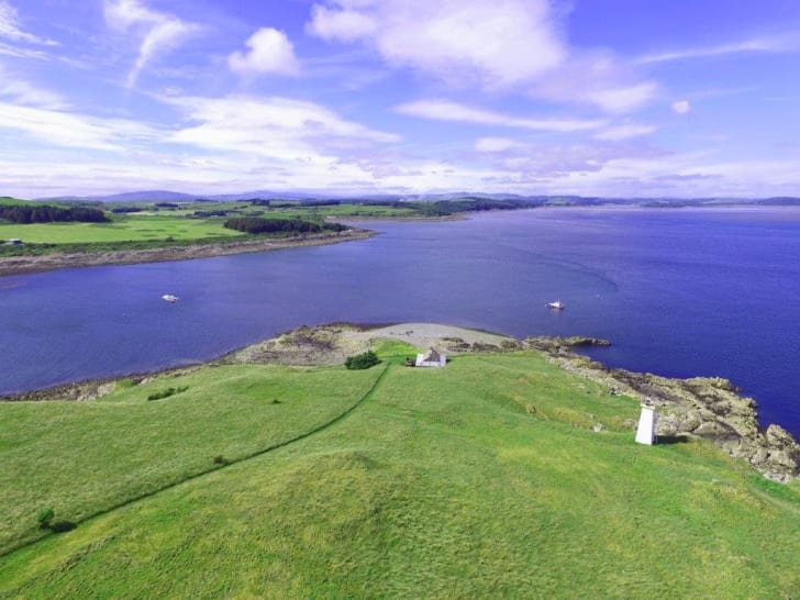 The island of Little Ross, which sits off the Meikle Ross headland on Scotland's south coast.