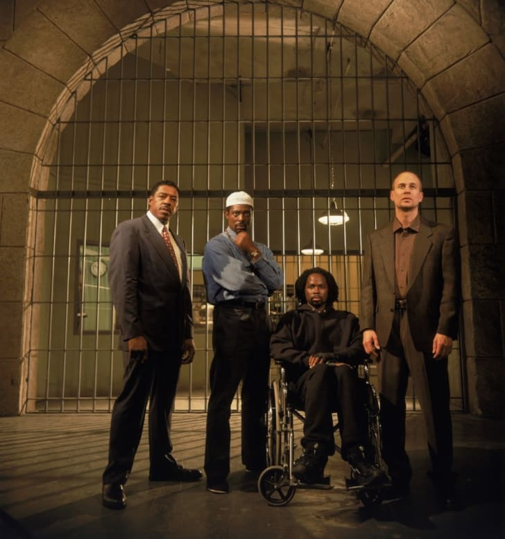 Ernie Hudson, Terry Kinney, Harold Perrineau, and Eamonn Walker in 'Oz'