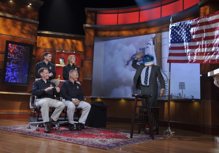 Stephen Colbert salutes the crew of STS-135 on The Colbert Report.