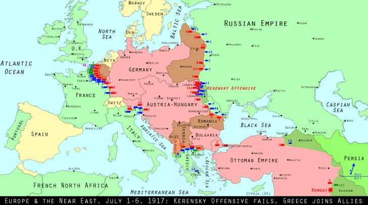 North East Europe July 1917