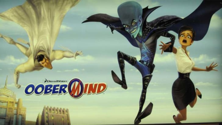 This is an image of early promotional work for the movie Megamind.