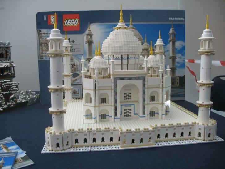The LEGO Taj Mahal sits on display