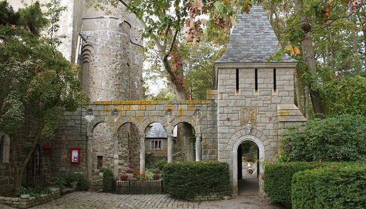 Part of the exterior of Hammond castle