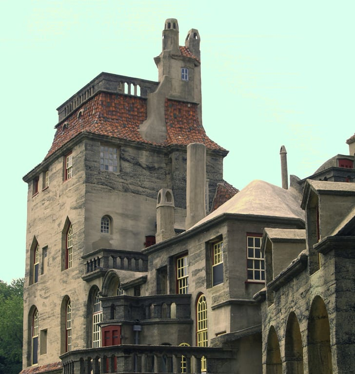 Part of the exterior of Fonthill castle