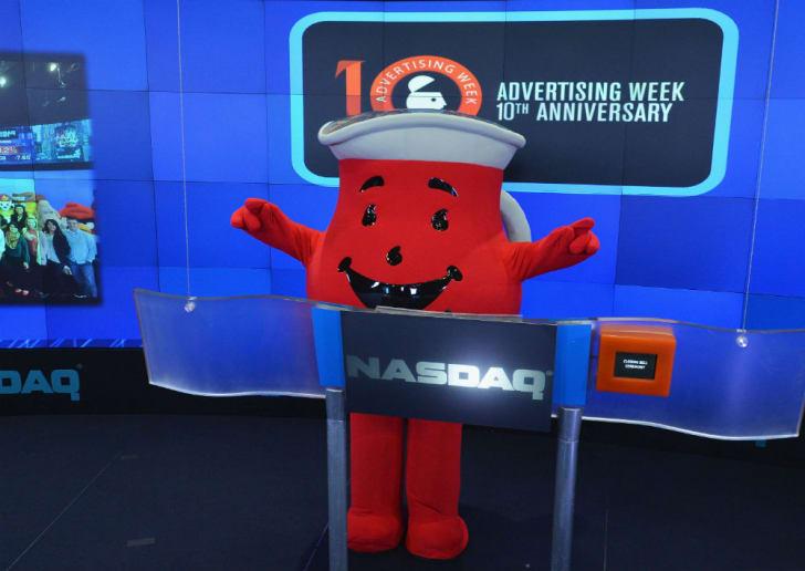 Kool-Aid Man makes an appearance at the NASDAQ