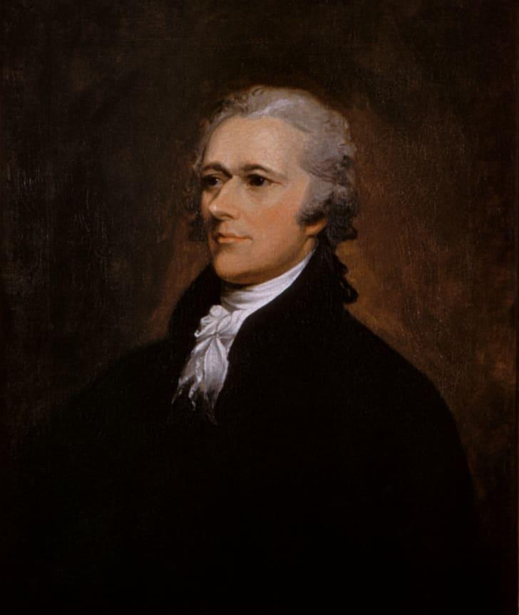 A portrait of Alexander Hamilton