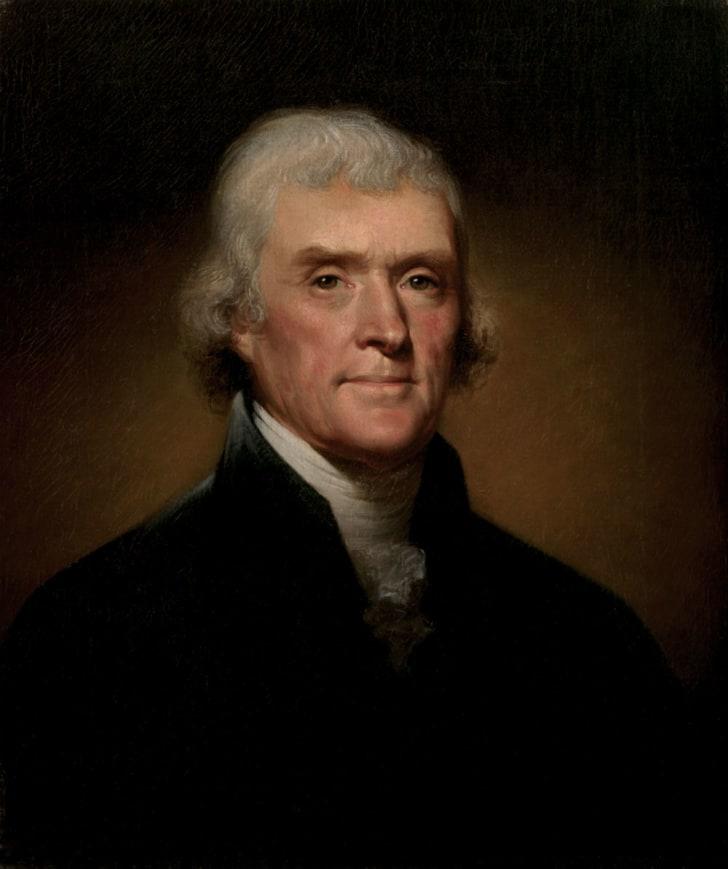 A presidential portrait of Thomas Jefferson
