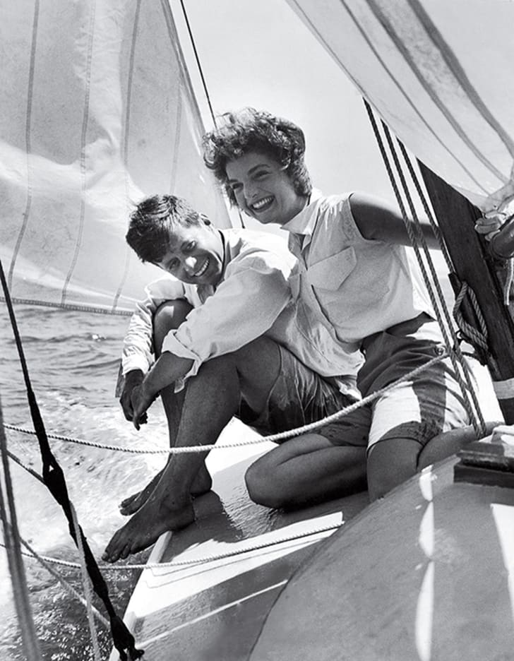 JFK and Jackie on Kennedy yacht