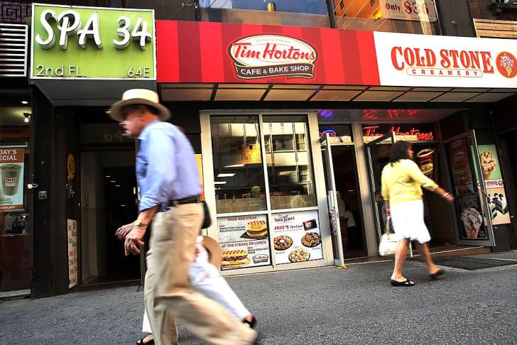 Tim Horton's cafe in Manhattan