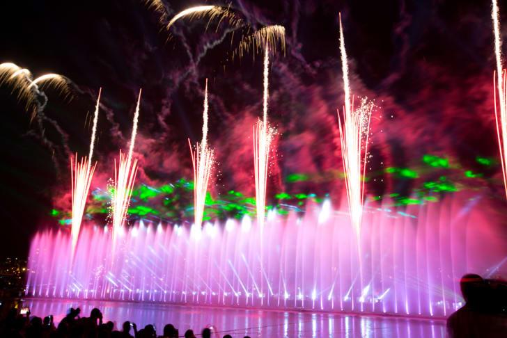 fountain type fireworks