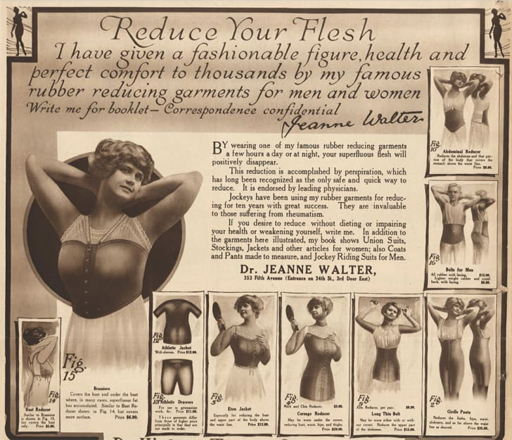 An ad for Dr. Walters Rubber Reducing Garments in the NYT