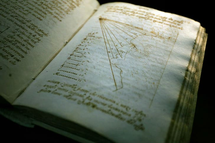 One of Leonardo da Vinci's notebook is put on display
