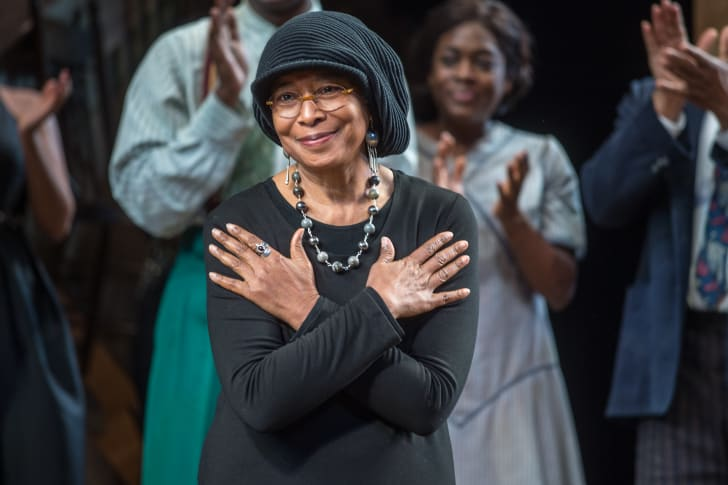 Alice Walker at The Color Purple Broadway opening night