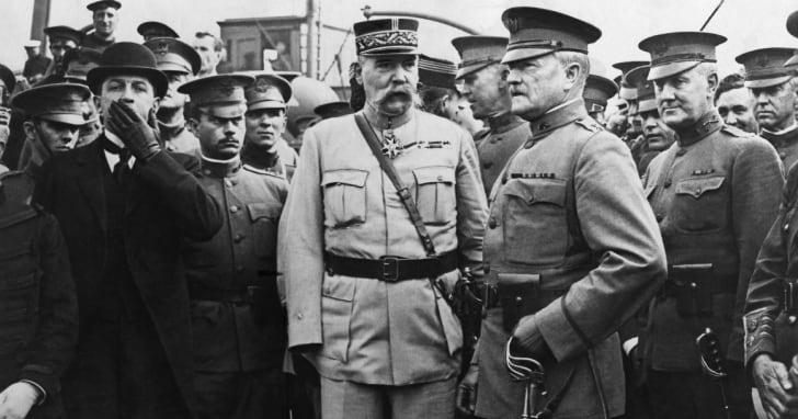 John Pershing became an instant hero in France and Britain