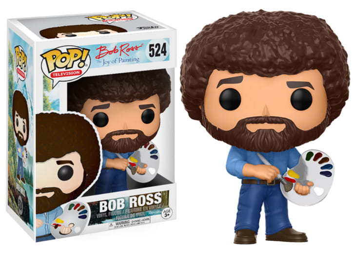 Pop culture toy company Funko's new figurine of American painter and television host Bob Ross
