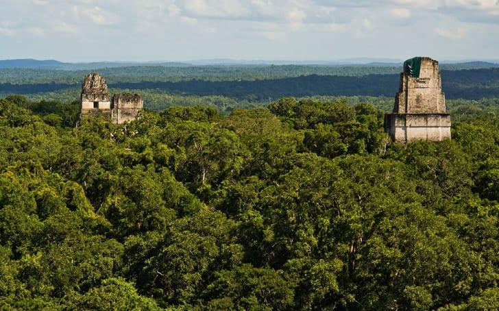 Temple IV in Tikal mayan ruins