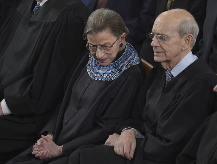 US Supreme Court Justices Ruth Bader Ginsburg