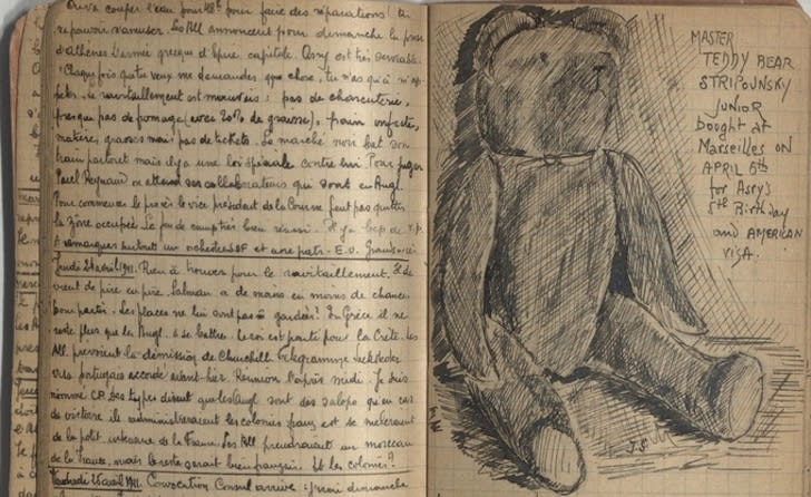 Pages from the diary of a Holocaust survivor.