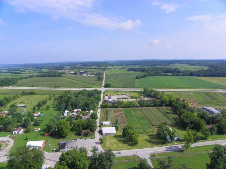 Farmland in Christian County, Kentucky