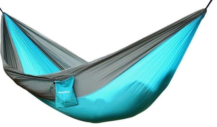 Camping hammock.