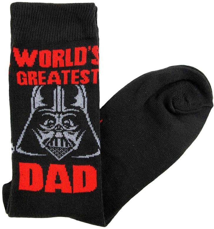 "Darth Vader ""World's Greatest Dad"" sock."