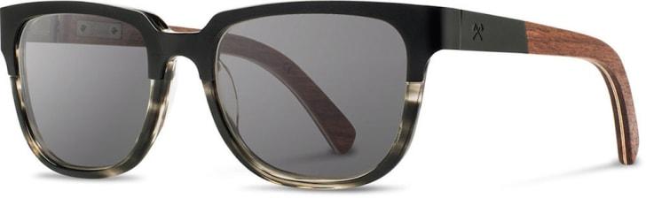 Titanium and hardwood sunglasses