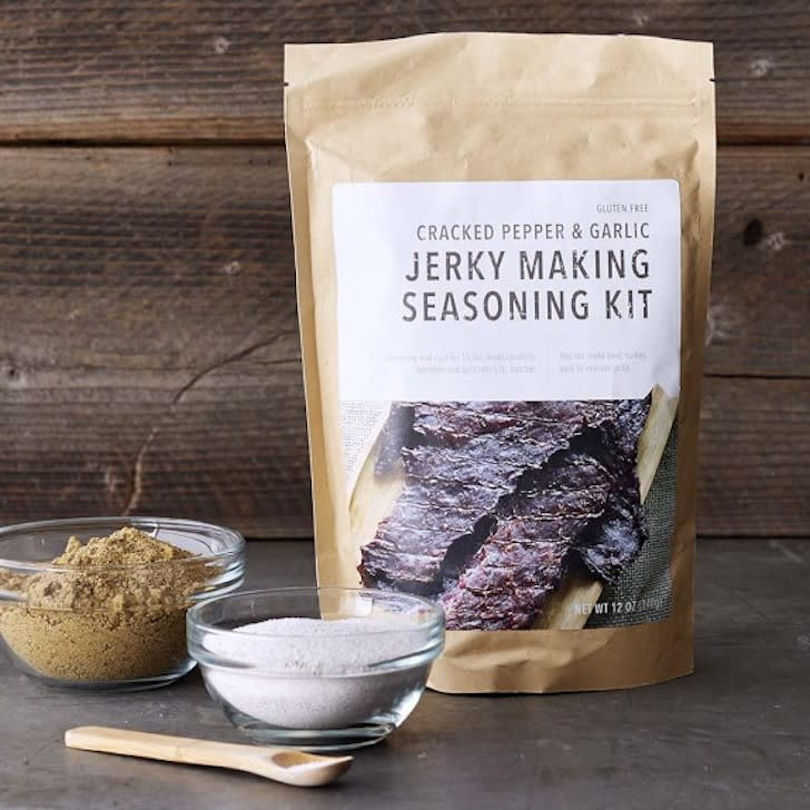 Box of jerky curing supplies.