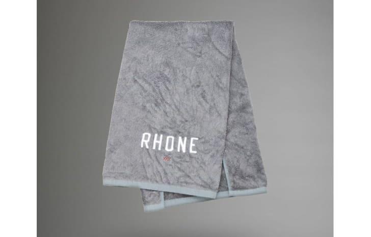Gray plush gym towel