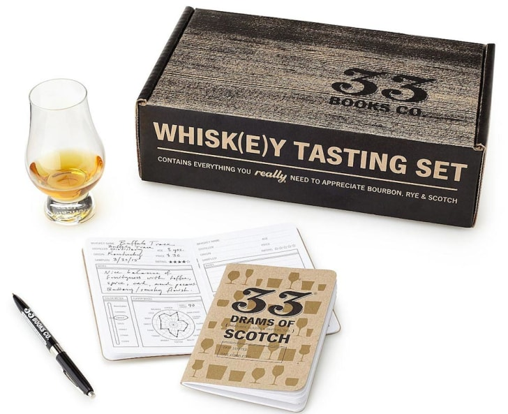 Whiskey tasting kit.