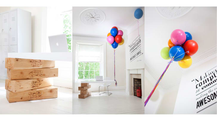 """An """"Up!""""-inspired desk, created by design firm Twisted Image for Dublin-based advertising agency Boys and Girls"""