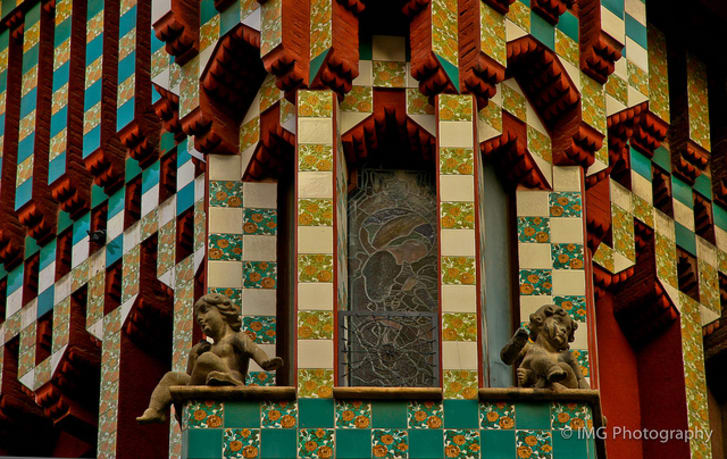 Catalan architect Antoni Gaudí's first home, Casa Vicens in Barcelona, Spain