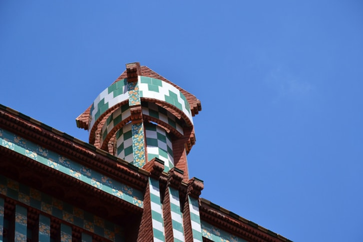 Catalan architect Antoni Gaudí's first home, Casa Vicens, in Barcelona, Spain