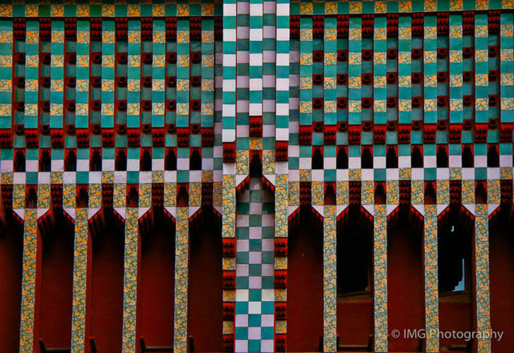 Catalan architect Antoni Gaudí's first home design project, Casa Vicens in Barcelona, Spain